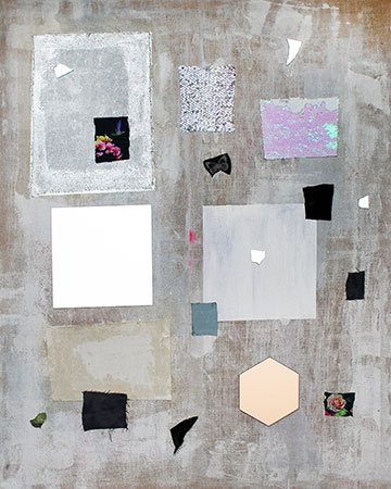 Tjorg Douglas Beer Itchykoo Park #11 2015. Acrylic Paint, Paint Pen, Oil  Paint, Light Pen, Excerpts Of Fabric Patterns, Fabrics In Coarse Linen,  Mirror